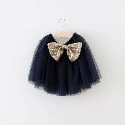 Tutu Bow Skirt | Navy Blue