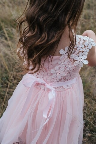 Layla Tutu Dress   Soft Peach