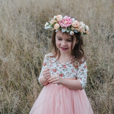Peaches & Cream Flower Crown