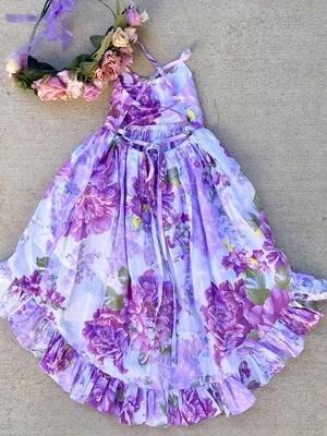 Florence Hi Low Dress | Purple Haze