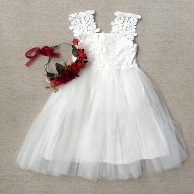 Layla Tutu Dress | White | No Flowers
