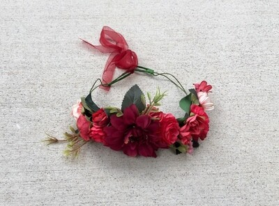 RUBY Red Christmas Flower Crown