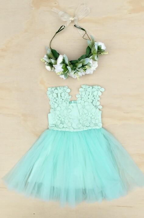 Layla Tutu Dress   Soft Mint