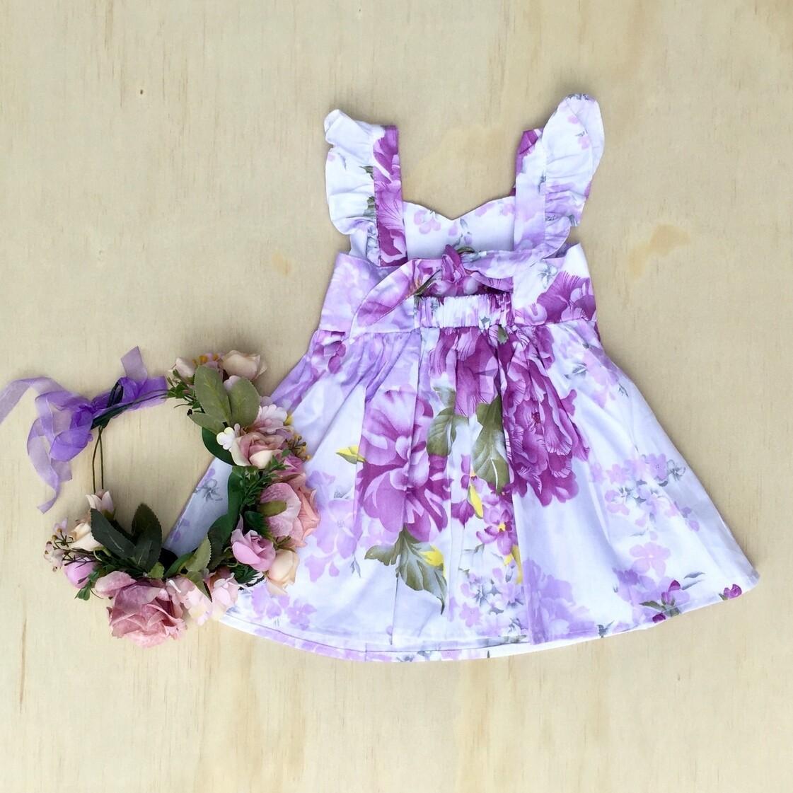 Delilah Tie-Back Dress   Purple Haze