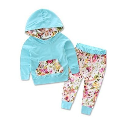 Blue Floral 2 Pc Set