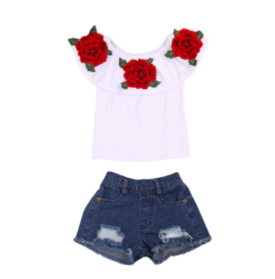 Ruby Rose 2 Pc Denim Set 9-12m