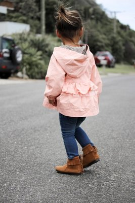 Penelope Coat | Peach | Size 6-12m ONLY