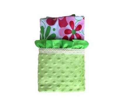 Spring Flowers | Lime | Minky Baby Blanket
