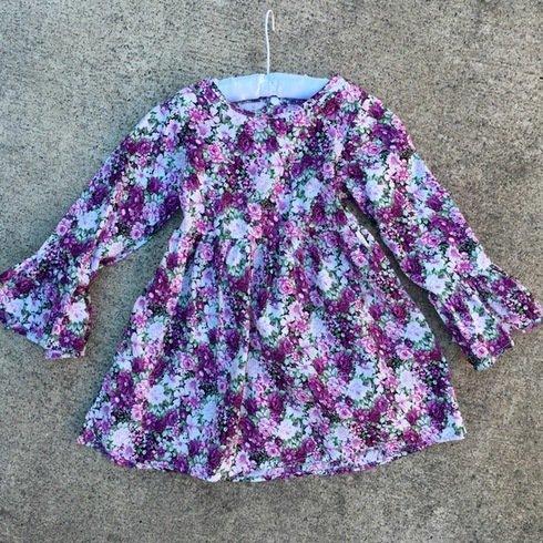 Alyssa Floral Dress | PURPLE