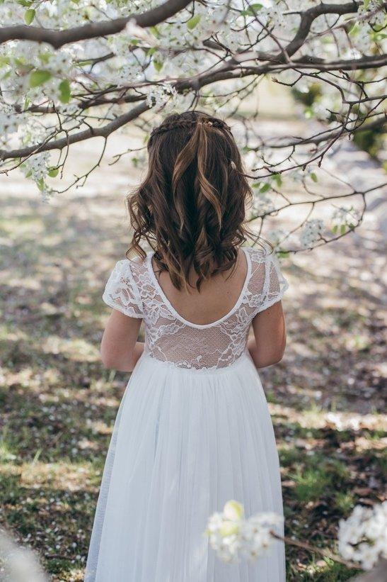 Juliette Dress Cap Sleeves   Ivory