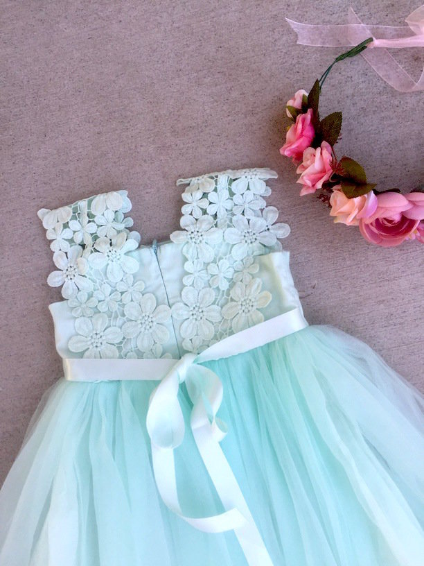 Layla Tutu Dress | Soft Mint
