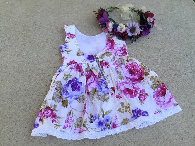 Sasha Low Back Zippy Dress | Purple
