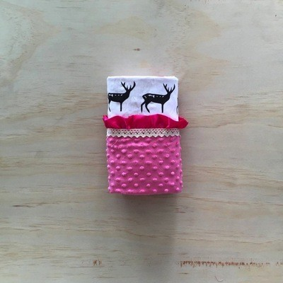 Deer Hot Pink | Minky Baby Blanket