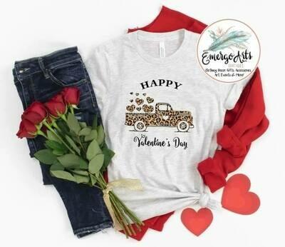 Be My Valentine Leopard Truck Tee