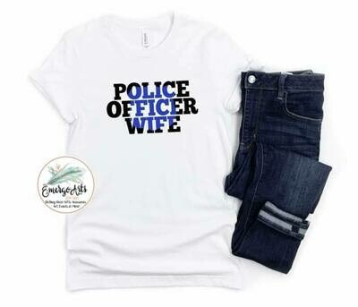 Police Officer Wife Tee