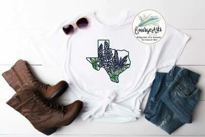 Blue Bonnet Texas Tee
