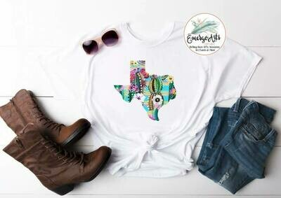 Oh so pretty Texas Tee