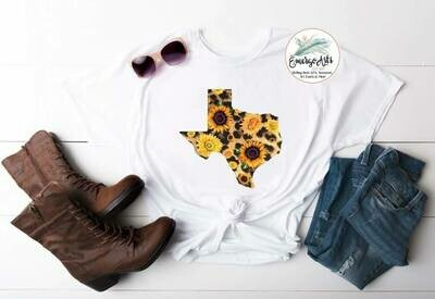 Leopard Sunflower Texas Tee