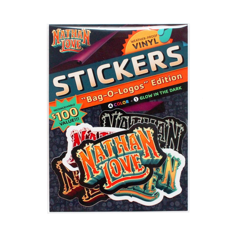 NathanLove Logo Sticker Slap Pack