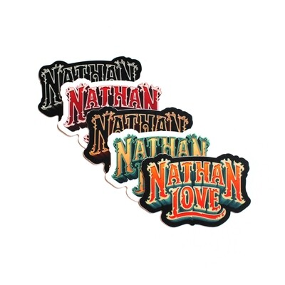 NathanLove Logo Sticker Slap Pack
