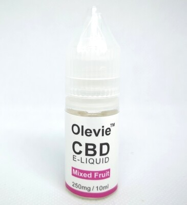 CBD Vape 250mg 10ml Isolate Mixed Fruits