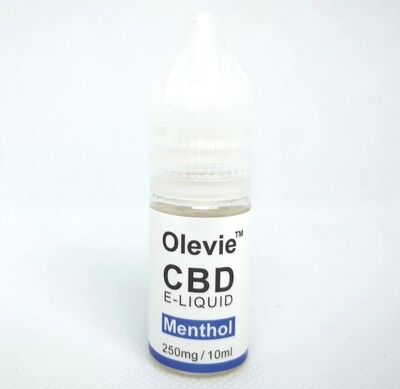 CBD Vape 250mg 10ml Isolate Menthol