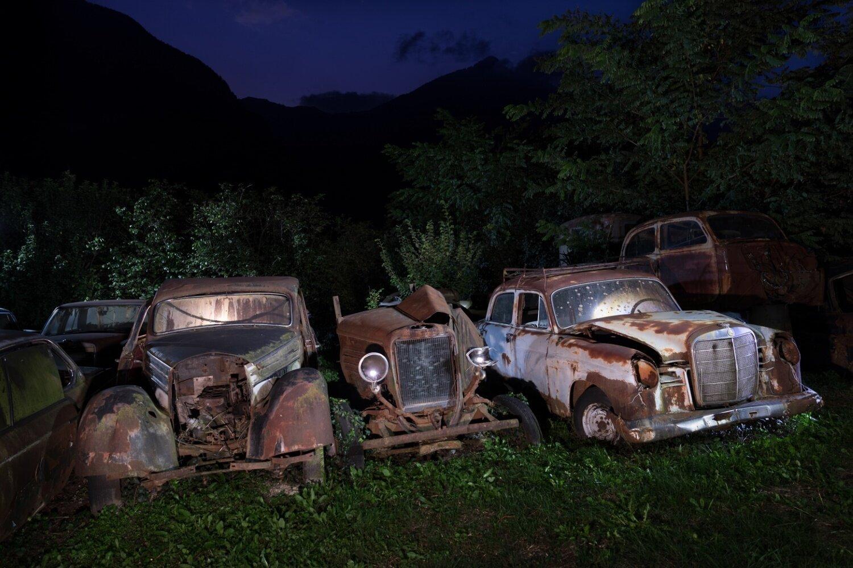 """""""secret place"""" Bild 3, 3 Auto Wrack`s Mercedes 170, 1963, 190"""