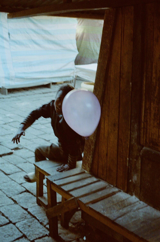 Boy with balloon