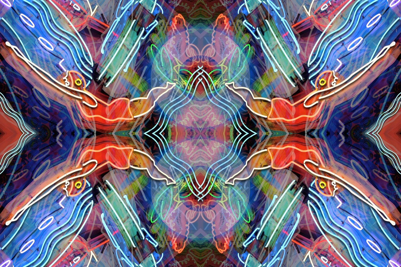 Dynamic Mirror Neon Pool