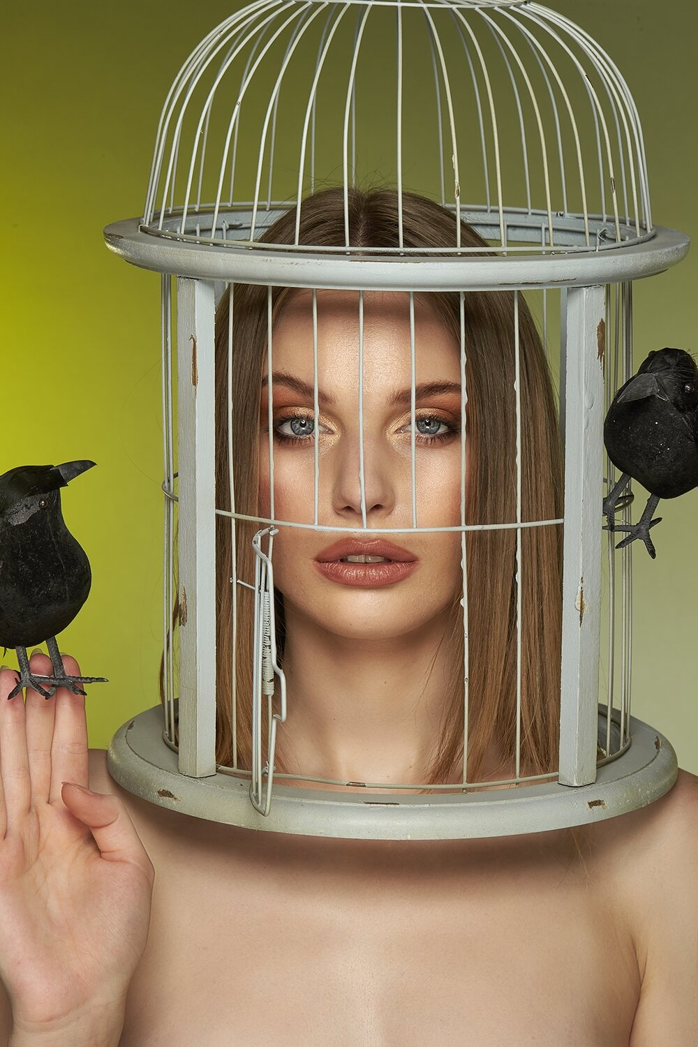 Girl in a Bird Cage