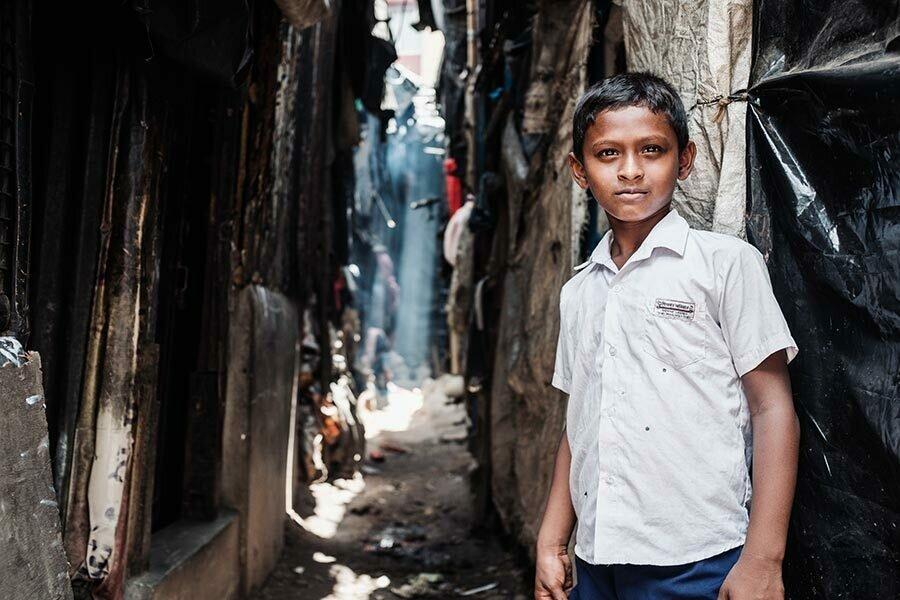 Unterwegs in den Recycling Slums von Kolkata, Indien