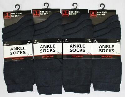 School Ankle Socks