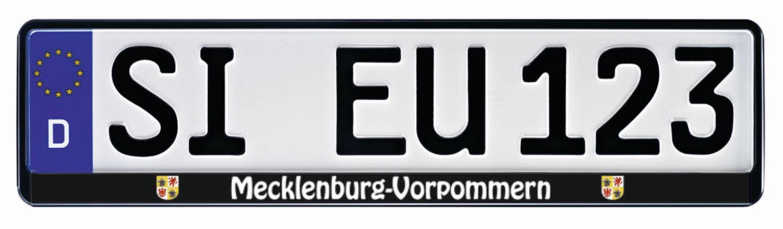 Kennzeichenhalter Mecklenburg Vorpommern f/ür 520 x 110 mm Kennzeichen