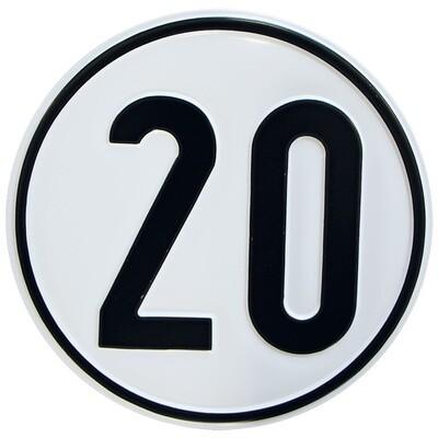 Geschwindigkeitsschild 20 km/h