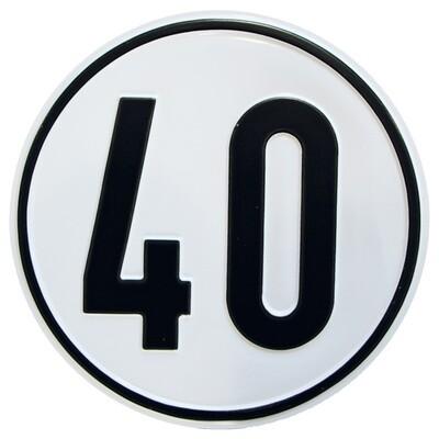 Geschwindigkeitsschild 40 km/h