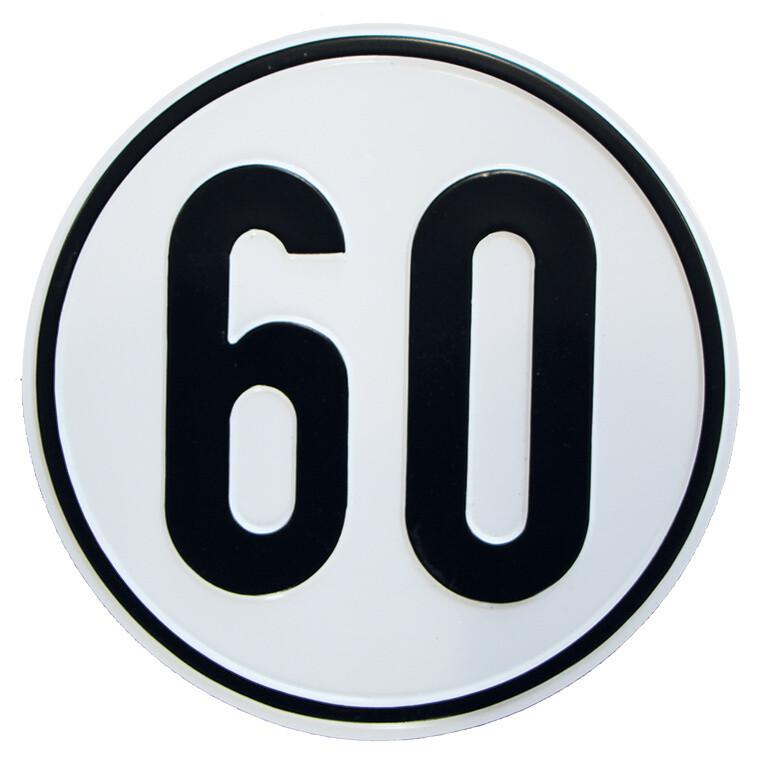 Geschwindigkeitsschild 60 km/h
