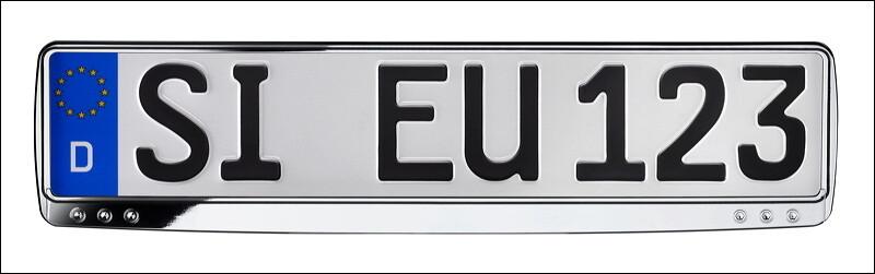 Kennzeichenhalter ERUCARAT Exclusive Chrome-Look geschwungen