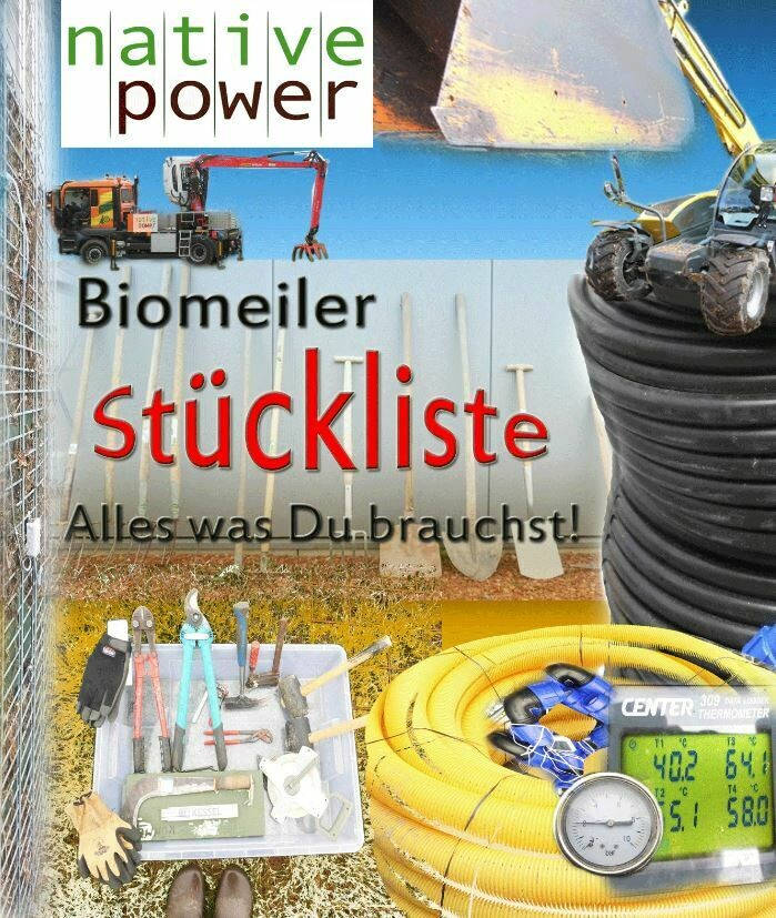 Stückliste zum holzigem Biomeiler, Version 2020, PDF-Dokument, 4 Seiten