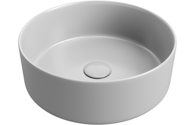 Luxey 355mm Ceramic Washbowl & Waste - Matt Grey