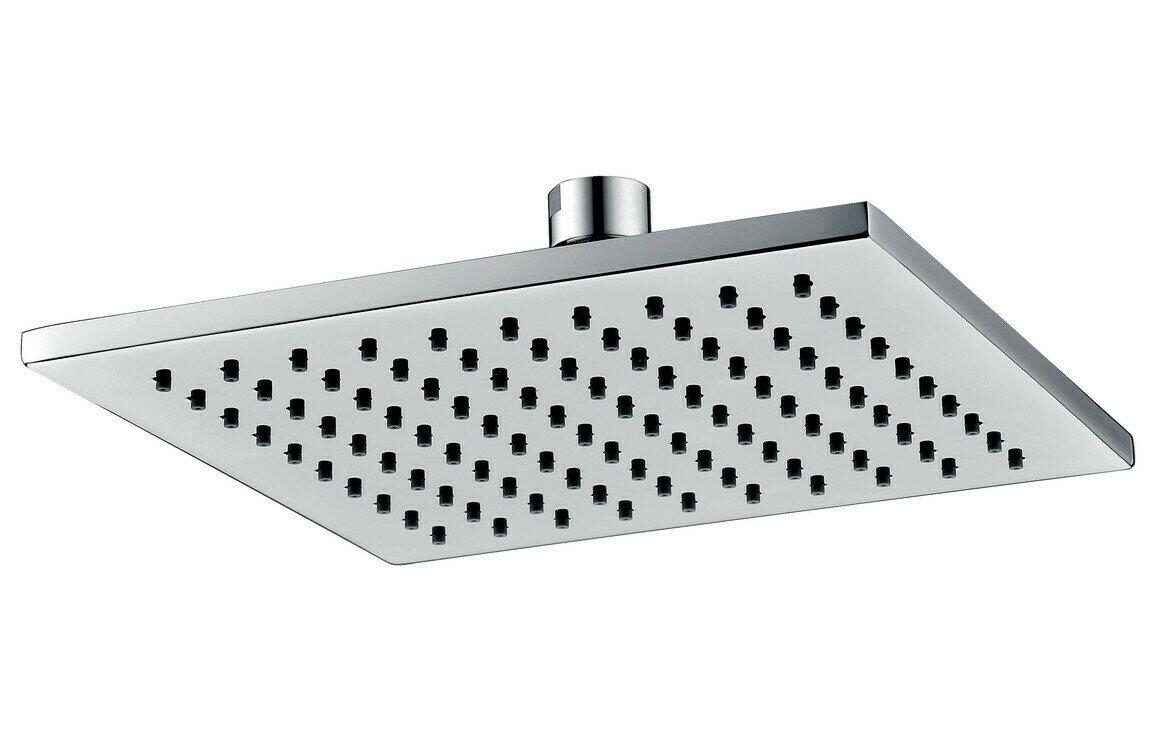 200mm Square ABS Showerhead - Chrome