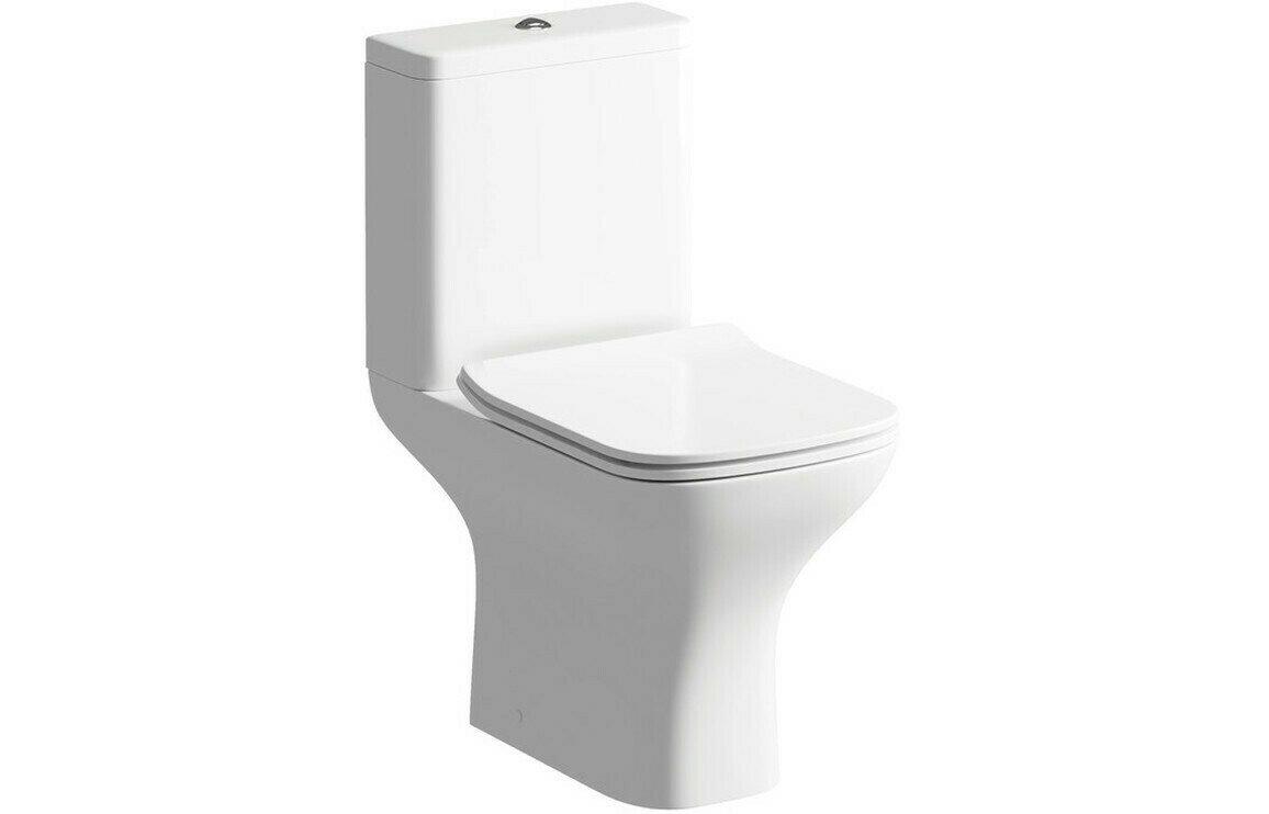 Cedarwood C/C Open Back WC & Soft Close Seat