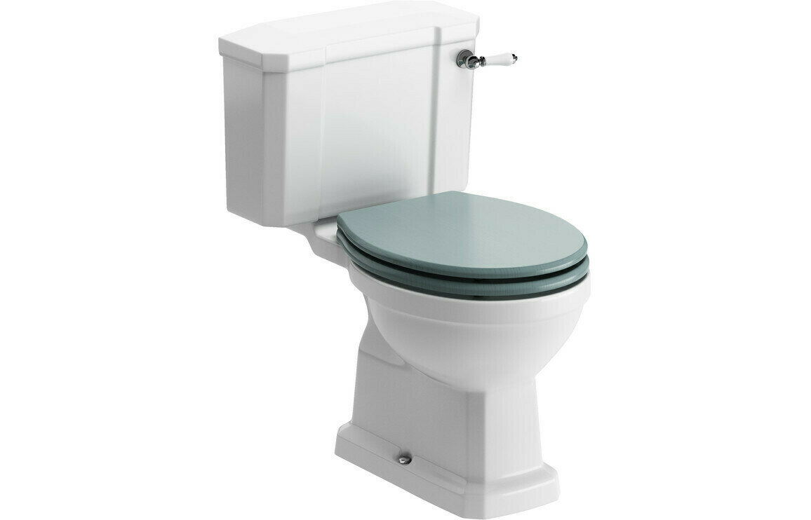 Sherbourne C/C WC & Lucia Sea Green Wood Effect Seat