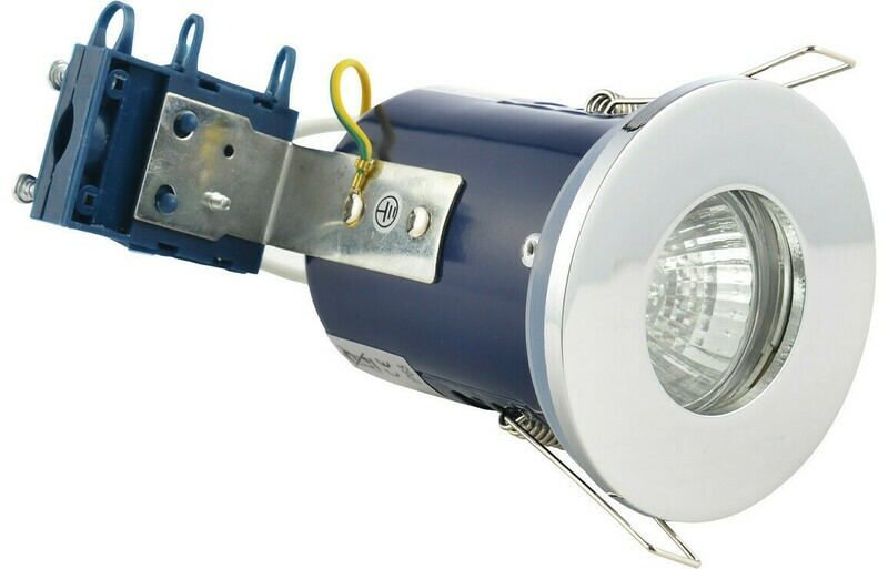 Firerated Shower Downlight - Chrome