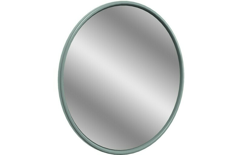 Lucia 550x550mm Round Mirror - Sea Green Ash