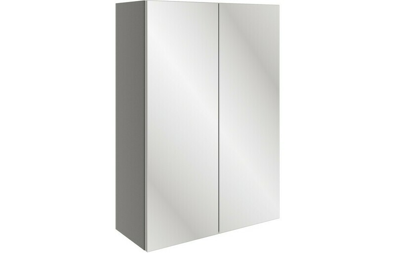 Valesso 500mm Mirrored Unit - Onyx Grey Gloss