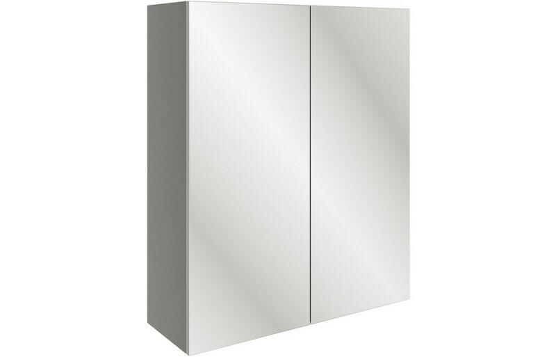 Valesso 600mm Mirrored Unit - Onyx Grey Gloss