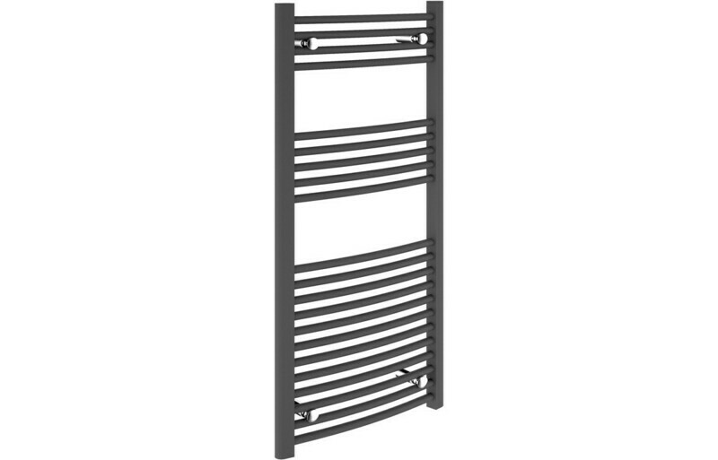 22mm Curved Towel Warmer 600x1200mm - Anthracite