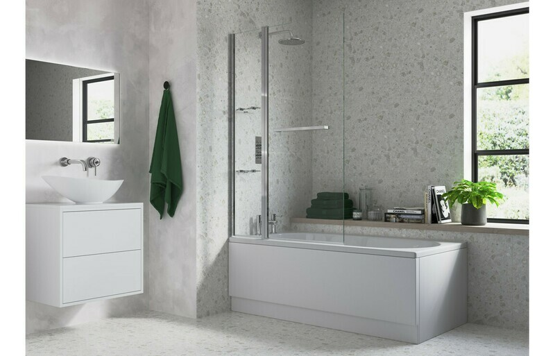 Two Panel Folding Bath Screen
