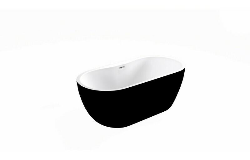 Harlesden Freestanding 1655x740x580mm Bath - Black