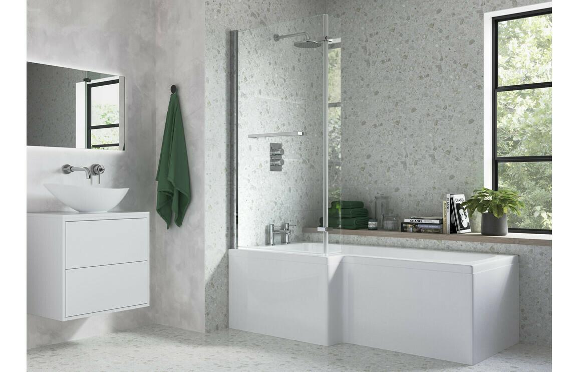 L Shape Bath Screen